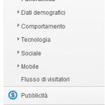 google analytics 5 new menù
